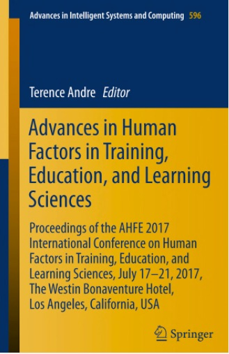 Advances in Human Factors in Training, Education and Learning Sciences