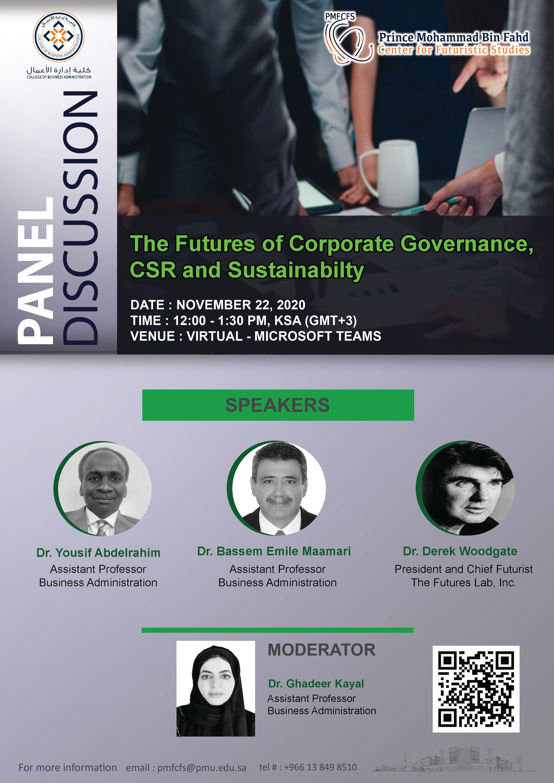 Online Panel Discussion: The Futures of Corporate Governance, CSR and Sustainability