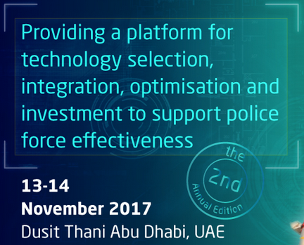 Derek Woodgate to keynote at the Future Police Conference in Abu Dhabi in the UAE